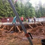 бетонные работы на объекте